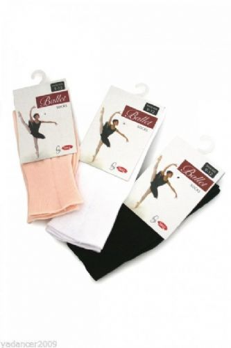 SILKY DANCE SOCKS Ballet Tap Jazz Gymnastics Girls & Adults Pink Black or White